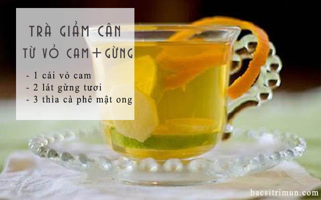 Tác dụng của vỏ cam tươi là làm trà giảm cân