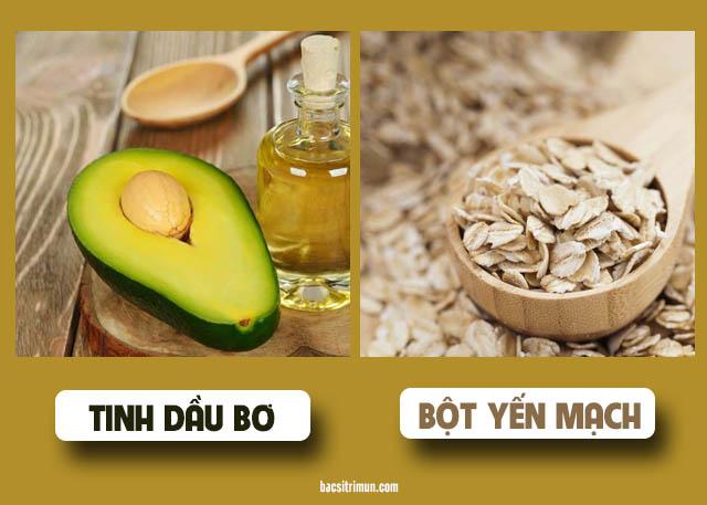 Yếu mạch và tinh dầu bơ trị mụn
