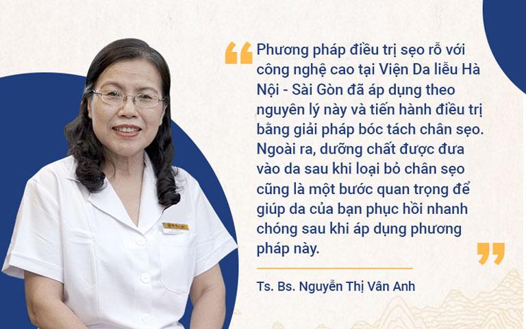 TS.BS Nguyễn Thị Vân Anh nhận định phương pháp trị sẹo này mang lại hiệu quả toàn diện