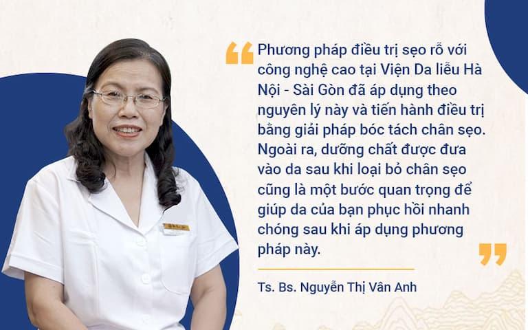 Chuyên gia da liễu đánh giá cao phương pháp điều trị sẹo tại Viện da liễu Hà Nội - Sài Gòn