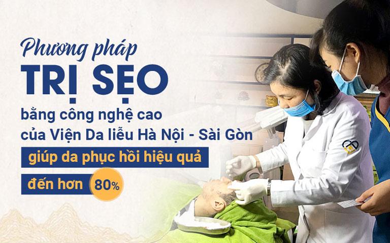 Phương pháp trị sẹo bằng công nghệ cao của Viện Da liễu Hà Nội - Sài Gòn giúp da phục hồi hiệu quả đến hơn 80%