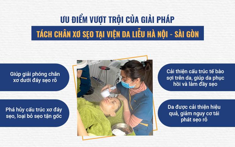 Phương pháp bóc tách đáy sẹo tại Viện Da liễu Hà Nội - Sài Gòn mang lại hiệu quả trị nổi bật